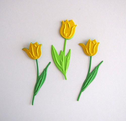 Tři tulipány žluté