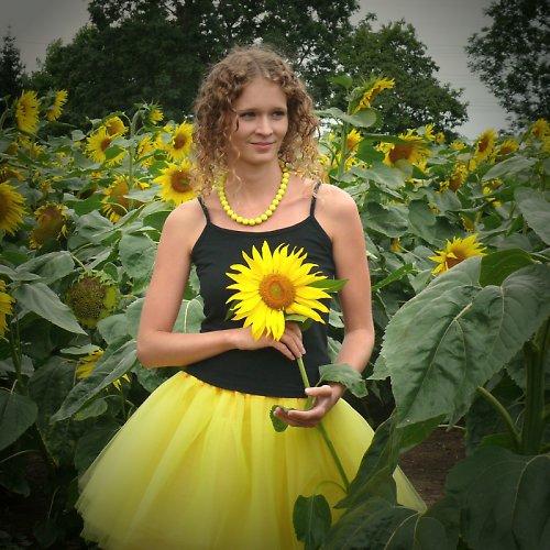 Žlutá tylová sukně-SKLADEM