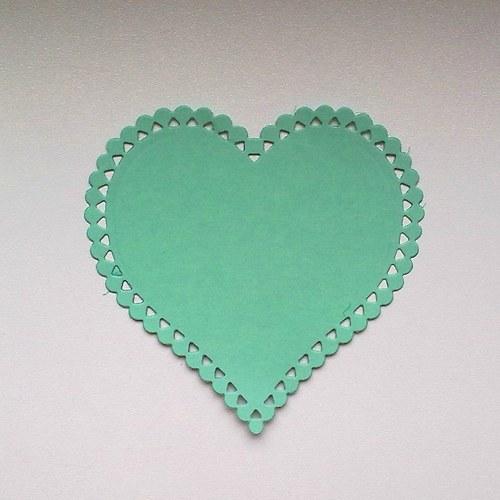 Výsek - Srdce krajkové (větší)