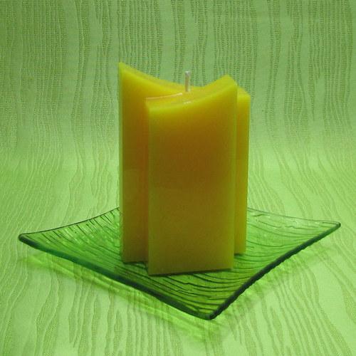 Svíčka dekorativní dvojhrot žlutý - hrozen