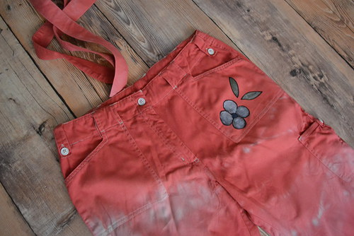 Roll-up batikované kalhoty....