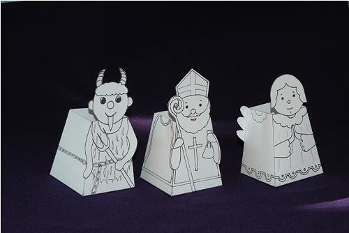 Krabičky Mikuláš, čert  a anděl