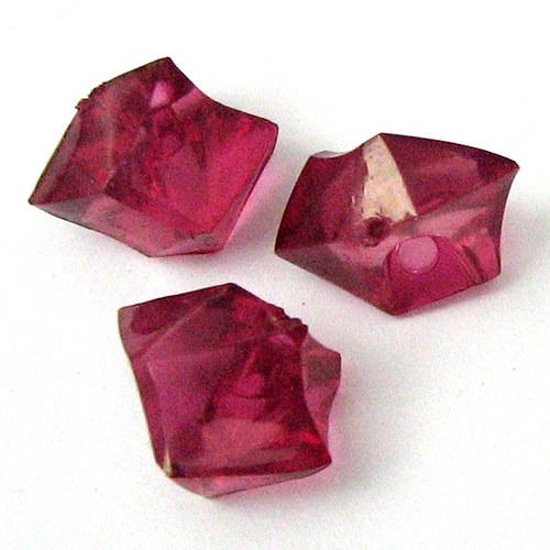 Akrylové krystaly - malinová - 5 ks