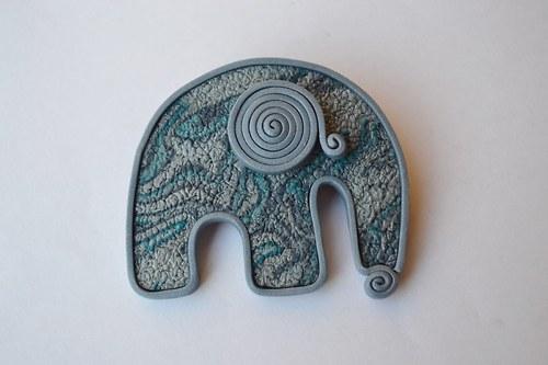 Sloní brož