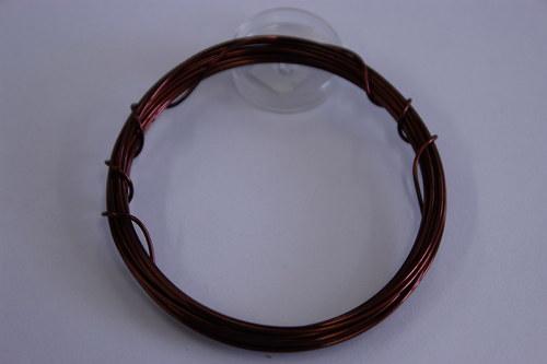 Měděný drátek 1mm - tm.hnfědý, návin 3,8-4m