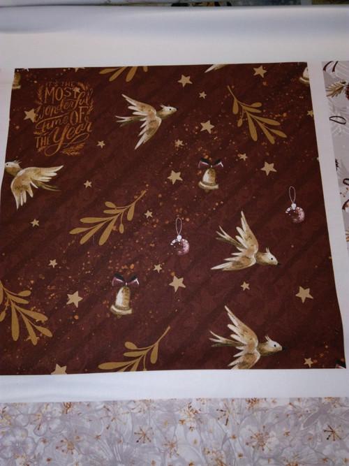 bavlněná látka - panel 35 x 35 cm