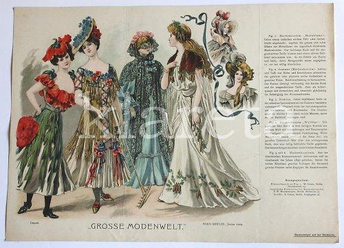 originální módní litografie z roku 1904