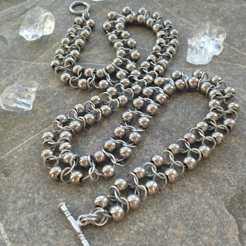 Stříbrný had - náhrdelník