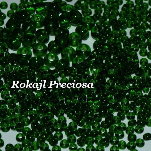 Rokajl Preciosa 6/0 Tr. Dark Smaragd