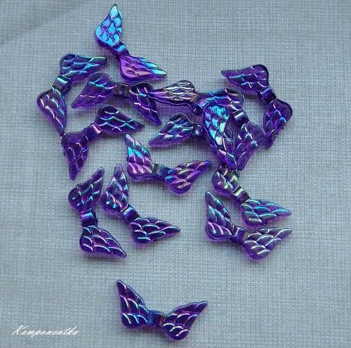 Křídla fialová 12mm 10kusů