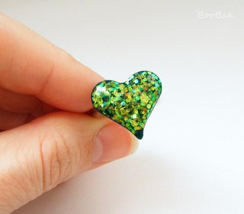 Prsteň magický zelený