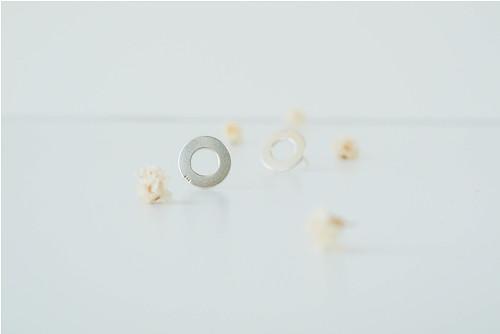 Minimalistické náušničky krúžok