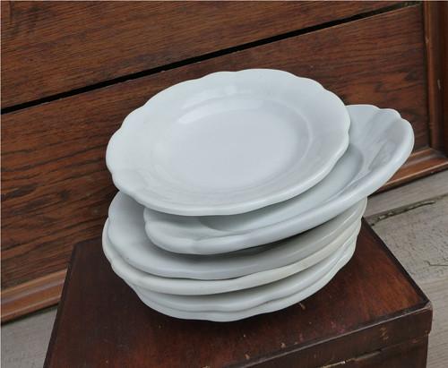 Staré selské silnostěnné talíře, dezertní, 6 ks
