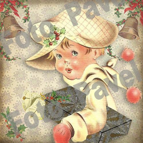 Vintage motiv - vánoce 32