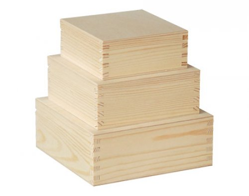 Souprava 3 krabičky čtvercové DL47