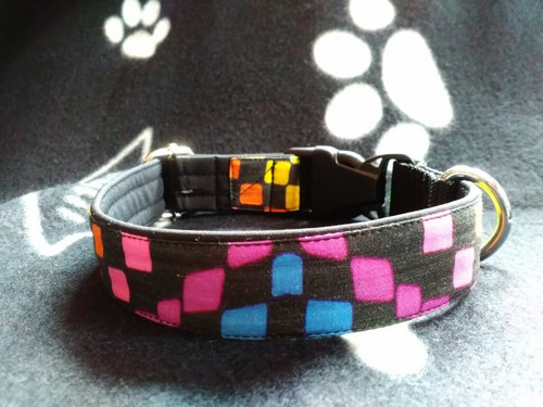 Obojek softshell - barevné čtverce