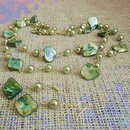 Zelená perleť