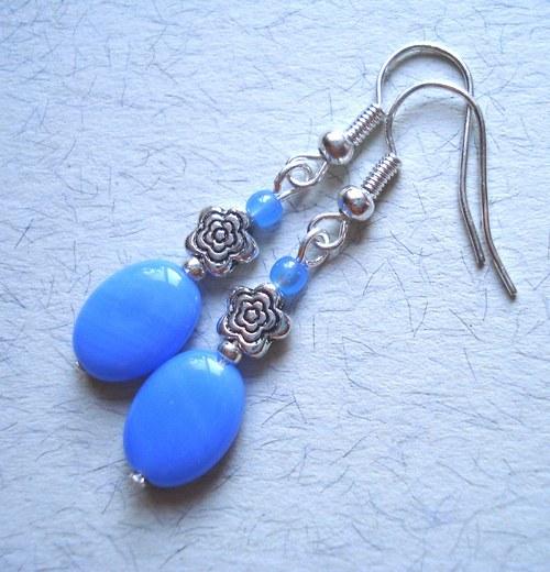Modré s kytičkou - SLEVA !!!