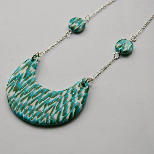 Žíhaný náhrdelník