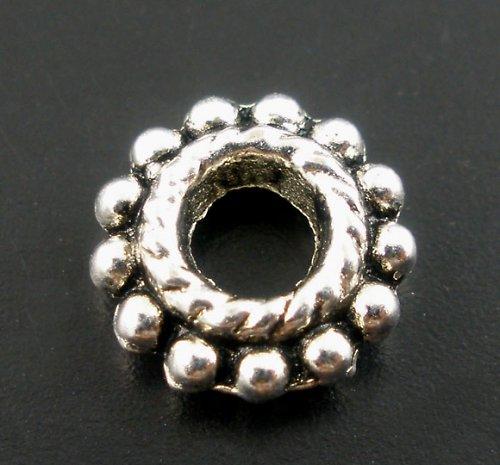 korálek kov pneu/ antické stříbro/ 8mm/ 10ks
