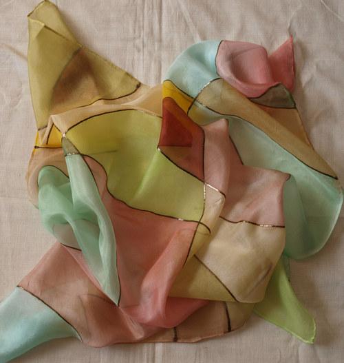 Podzimní kontury šátek 75 x 75