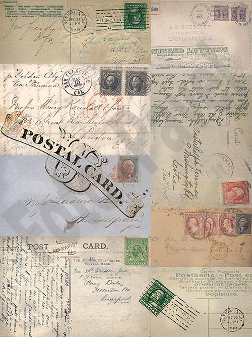 Vintage papír A5 - poštovní
