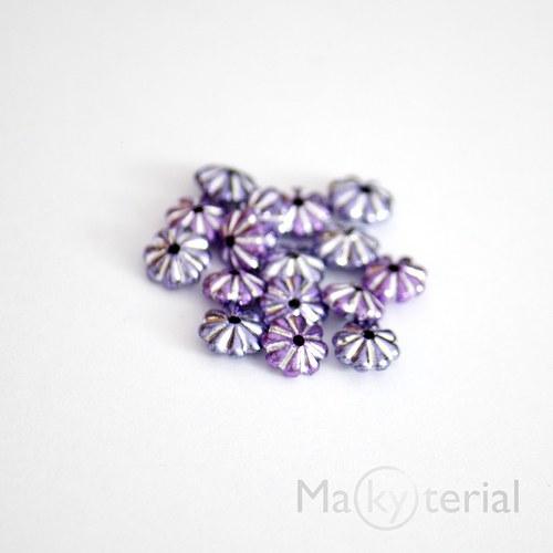 Akrylové korálky - fialové - 30 ks