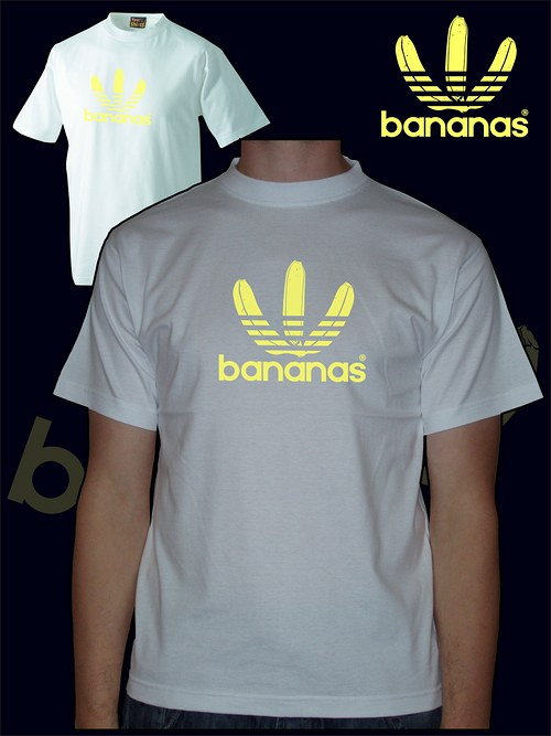 Pánské bílé tričko Bananas