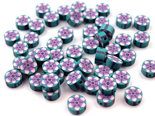 2201200/Fimo placička azur/fialová 6 ks