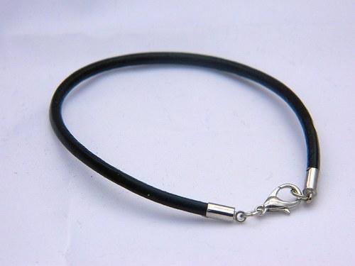Náramek kožený černý