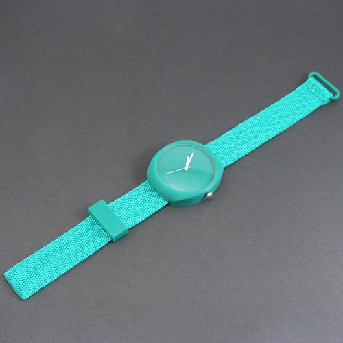 Designové hodinky duha turqouise green