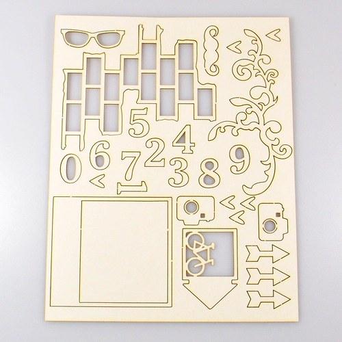 Chipboards Wycinanka / Sada mix II.