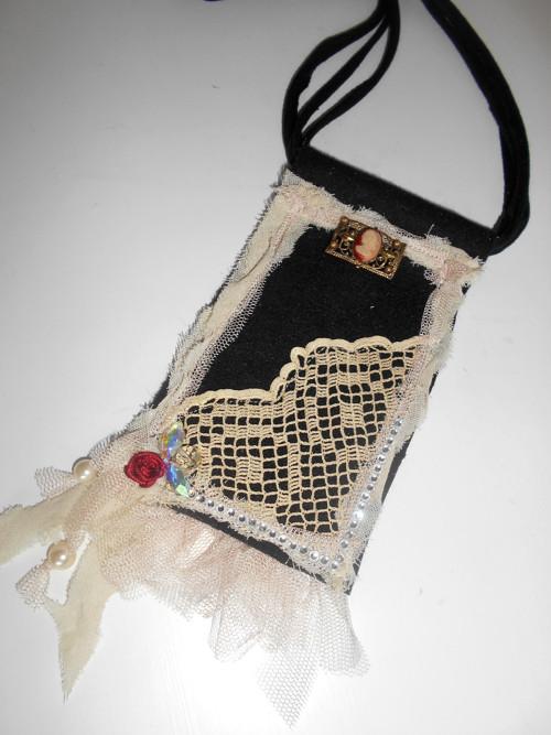 Vintage textilní náhrdelník
