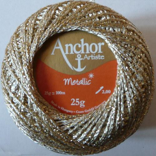 Anchor Artiste Metallic - bílo-zlatá