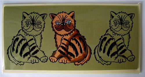 Přání - tři kočky vedle sebe
