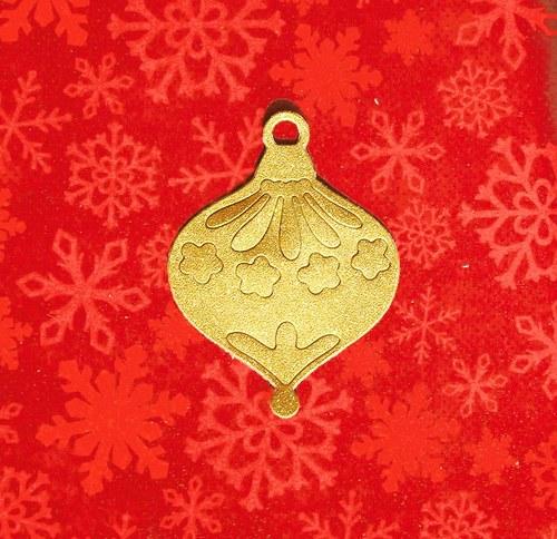 Vánoční baňka třpytivá (střední)