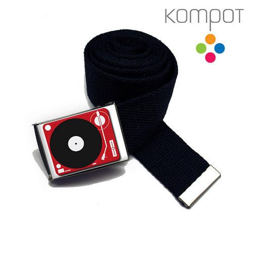 Pásek 074 :: červený gramofon