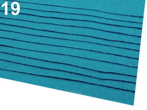 Arch plsti - filcu- 20x 30 cm : Modrá neonová