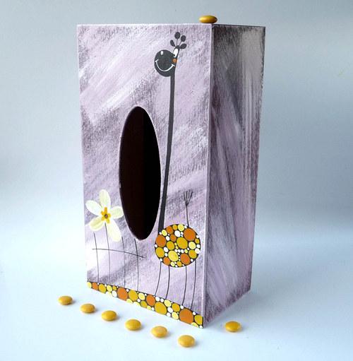 pelíšek pro trpaslíka - fialový s žirafou