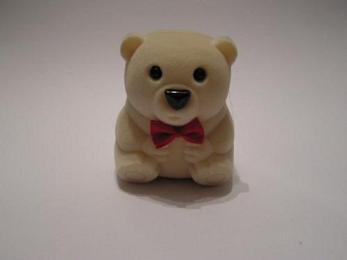 Sametová krabička na šperky - medvídek krémový