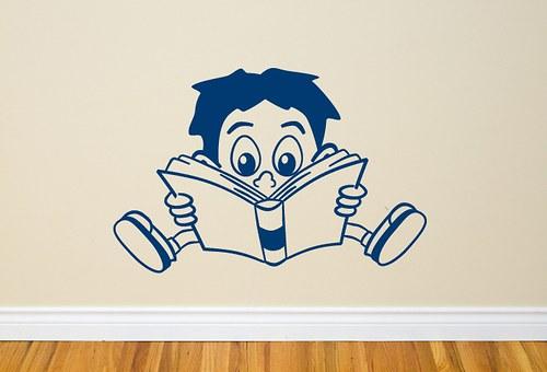 Kluk s knihou – 40cm x 26cm