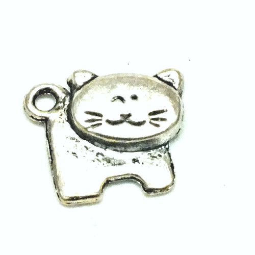 Přívěsek - kočka s kulatou hlavou stříbr.