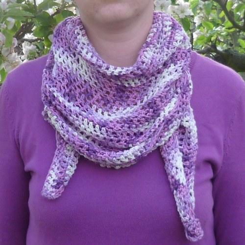 Bambusový šátek na krk - fialový