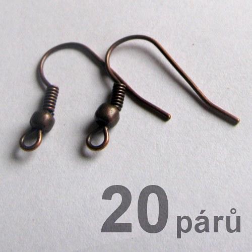 Afroháčky - měděné - 40ks (20párů)