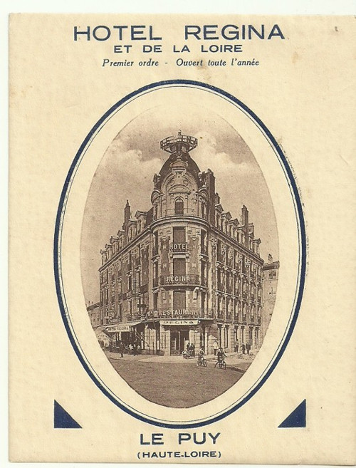 Hotelové nálepky Hotel Regina