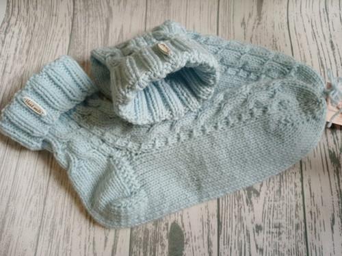 Pletené ponožky sv. modré : vel.41-43