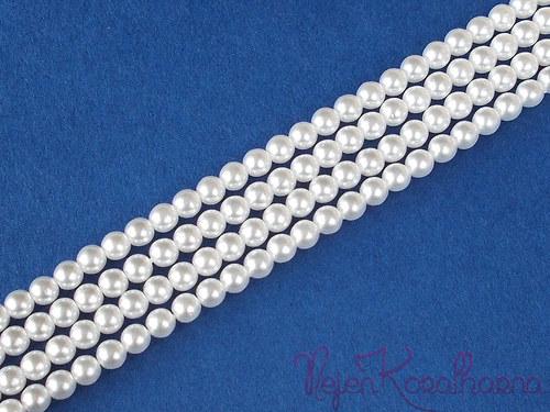 Voskové perle bílá 4mm