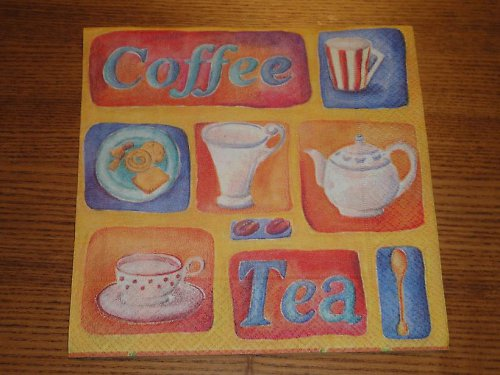 Ubrousek na decoupage - coffee