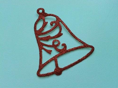 Zvoneček - červený třpytivý