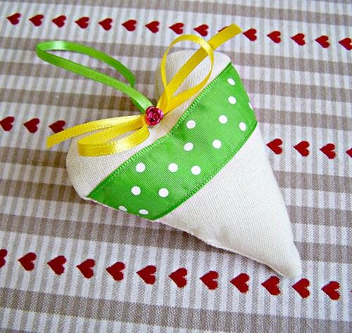 Zelené srdíčko - špičaté